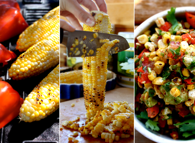 grilled corn salsa ingredients 3 ears of corn husks removed 1 red ...