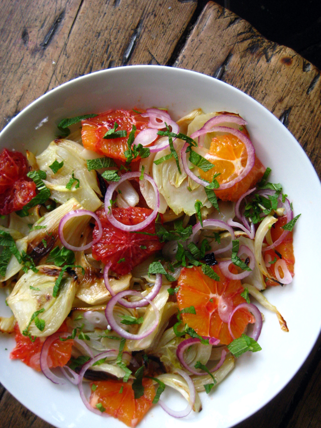 Warm Salad Month: Roasted Fennel with Orange and Mint - My New Roots