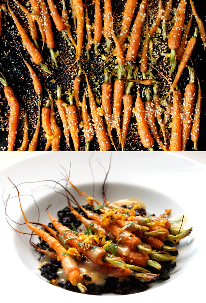 Ginger-Roasted Carrots with Mellow Miso Dressing - My New Roots