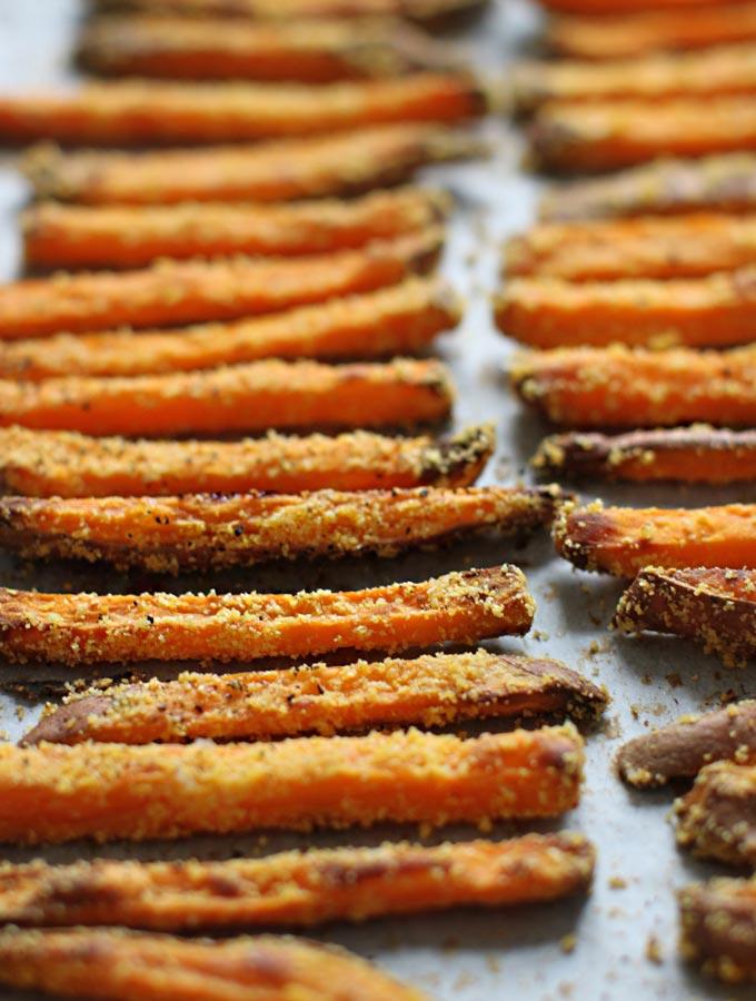 Crispy Cornmeal Sweet Potato Fries - My New Roots