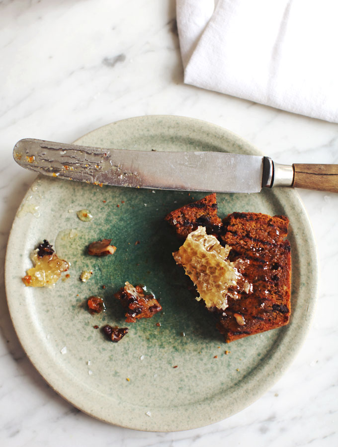 Grilled Pumpkin Bread with Honeycomb // My New Roots