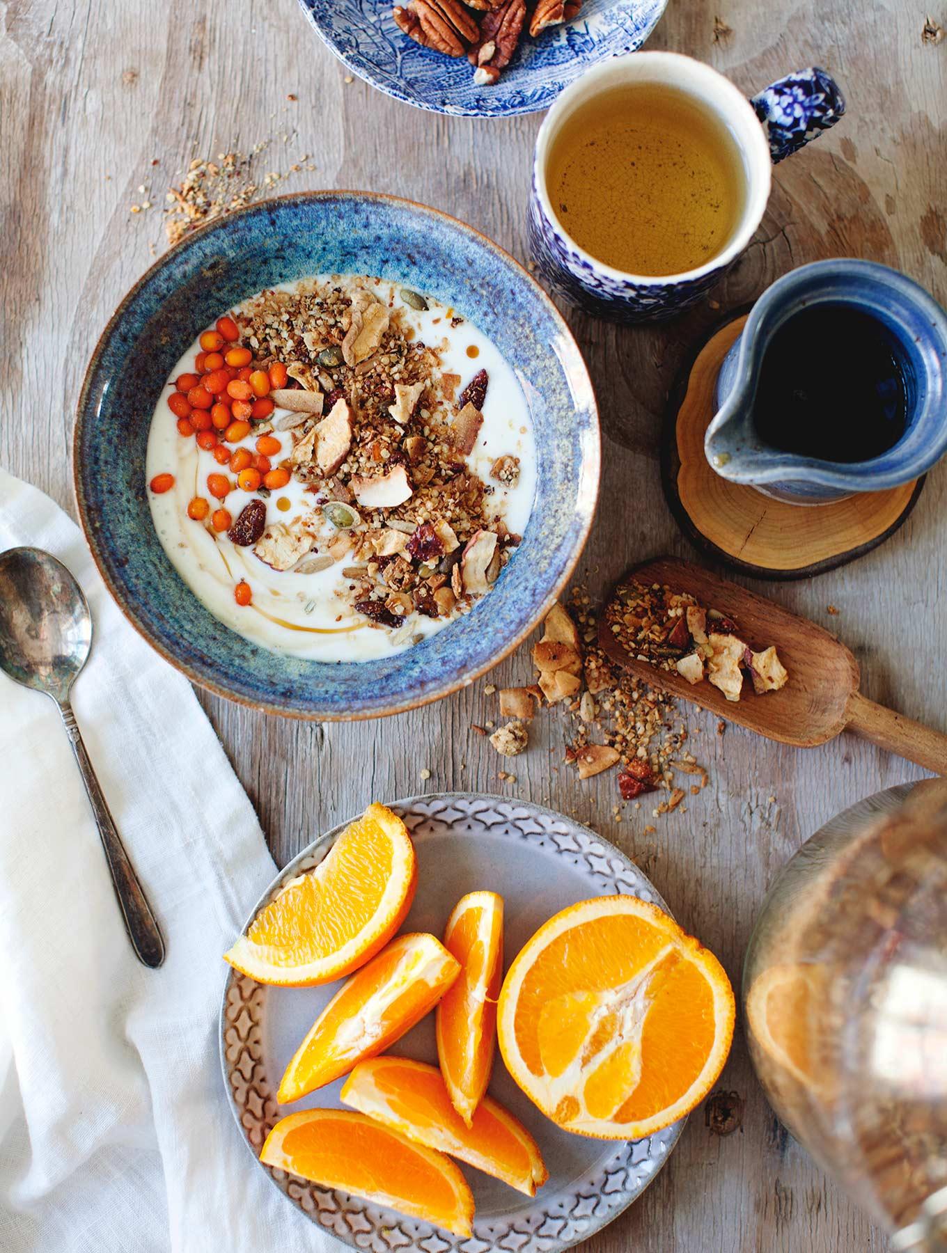 Tahini Orange Coconut Muesli