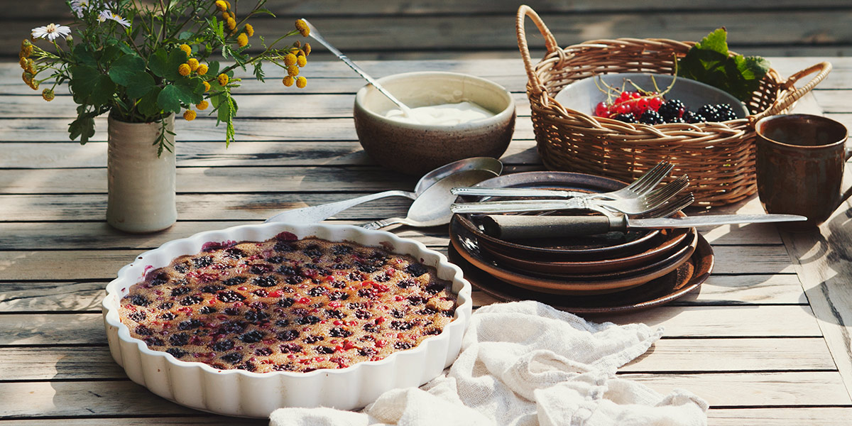 BLACKBERRY AND CURRANT CLAFOUTIS