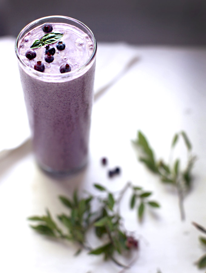 Blueberry Basil Smoothie + Soy-free Protein Smoothie Boosts