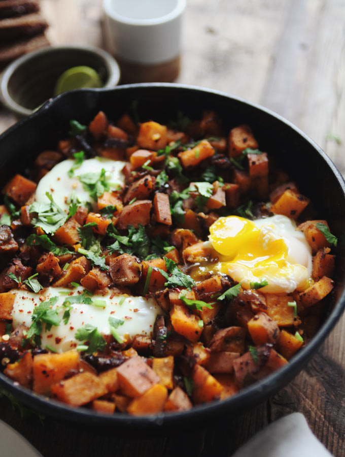 Sweet Potato Skillet Hash - My New Roots