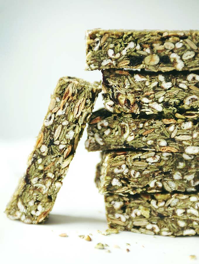 Matcha Green Granola Bars My New Roots