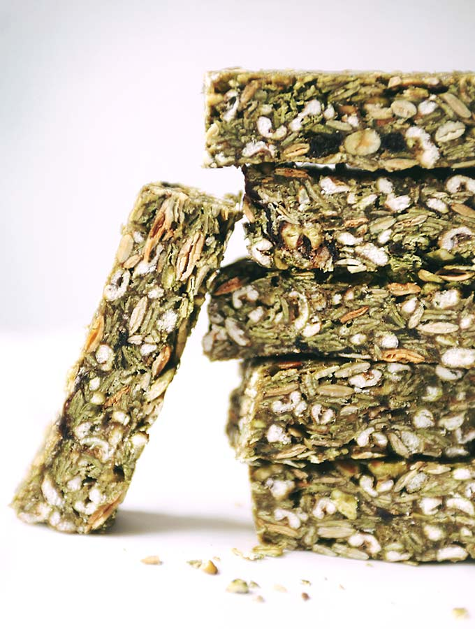 Matcha Green Granola Bars