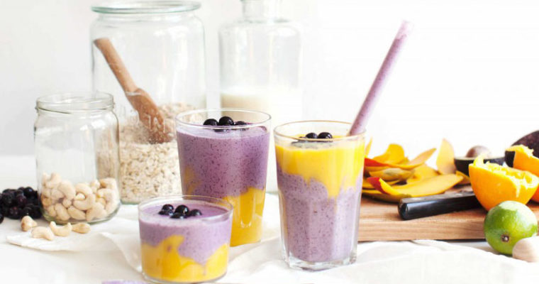 Tess's Blueberry Breakfast Tart + Mystical Mango Smoothies