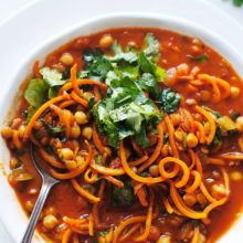 Chickpea & Sweet Potato Noodle Soup