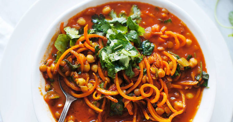 Chickpea & Sweet Potato Noodle Soup