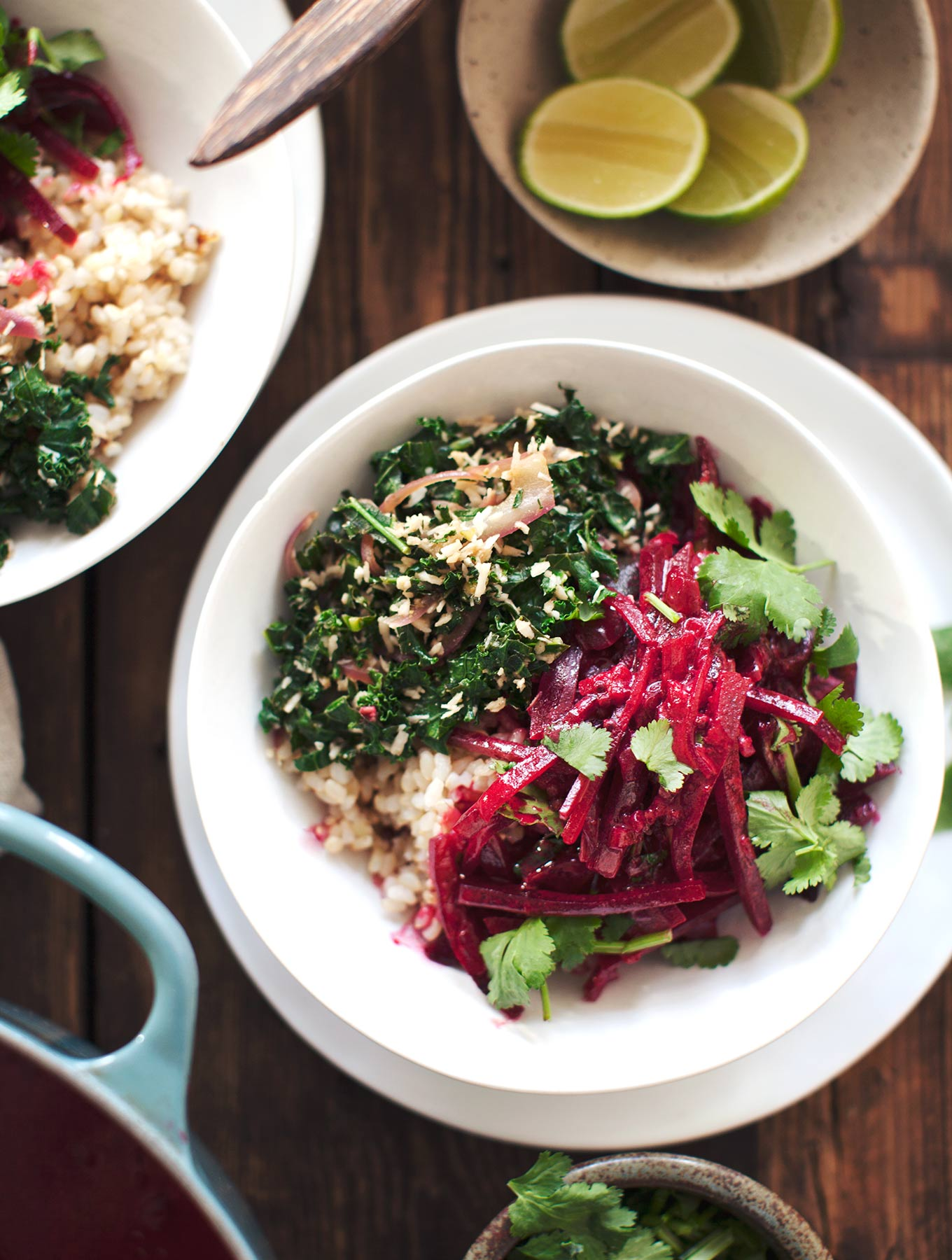 Sri Lankan Beetroot Curry & Kale Mallung