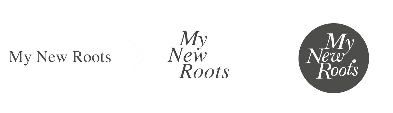 My New Roots logo development