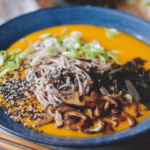Pumpkin Miso Broth with Soba