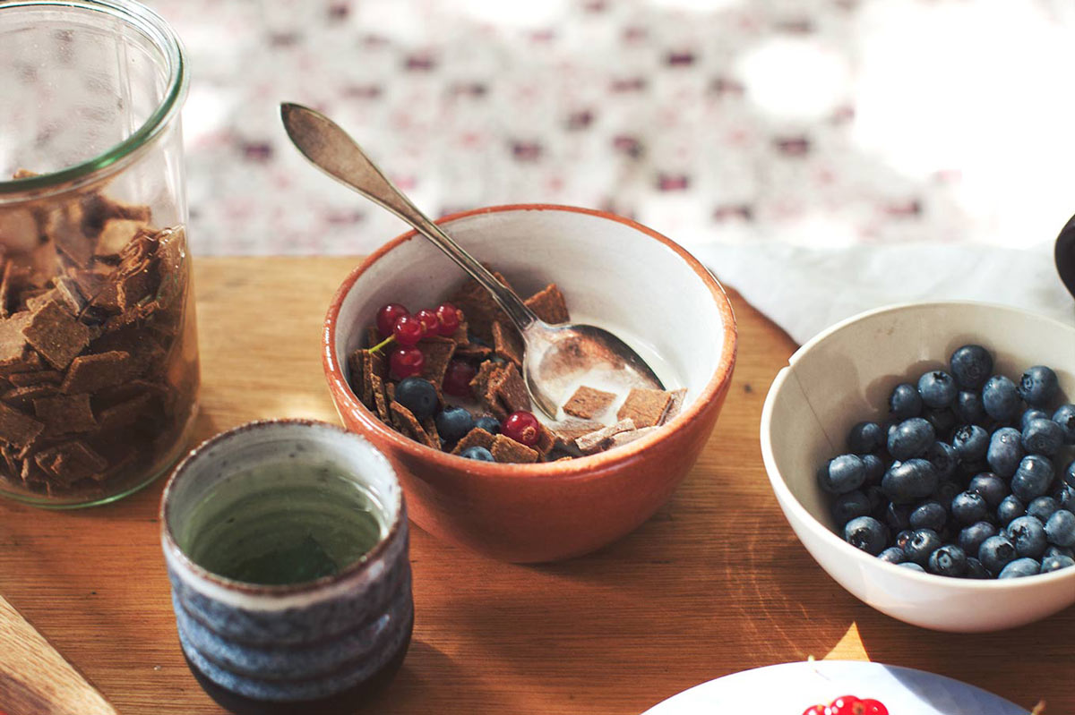 Cinnamon Crunch Cereal and Hemp Milk