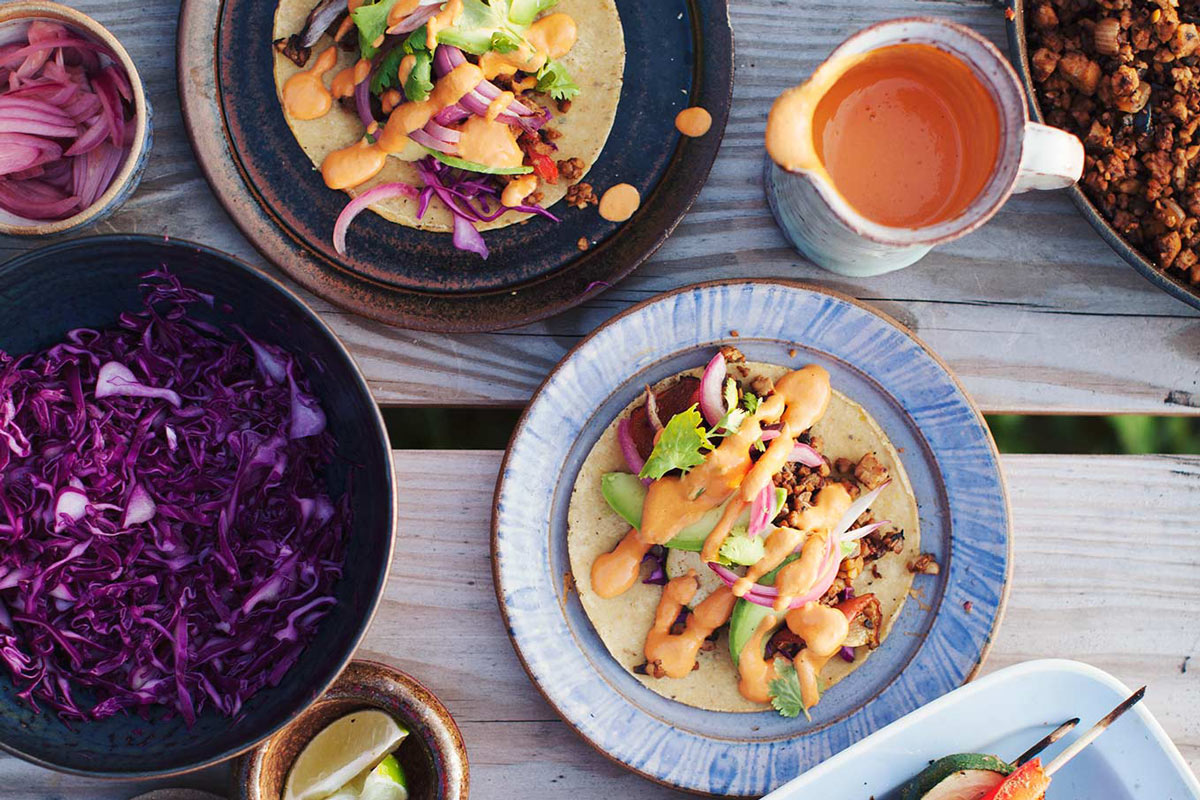 Tempeh Tacos with Raw Cashew Queso