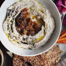 Caramelized Onion White Lentil Hummus