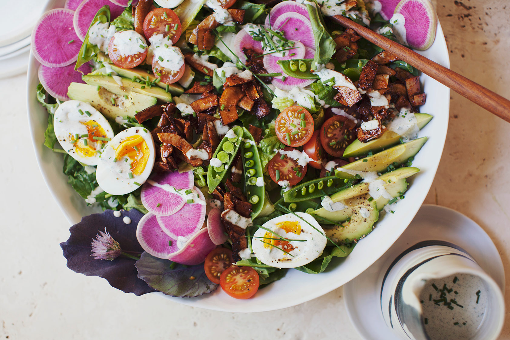 Summer Cobb Salad with Coconut Bacon