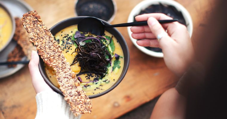 Butternut Miso Soup with Arame and Wasabi